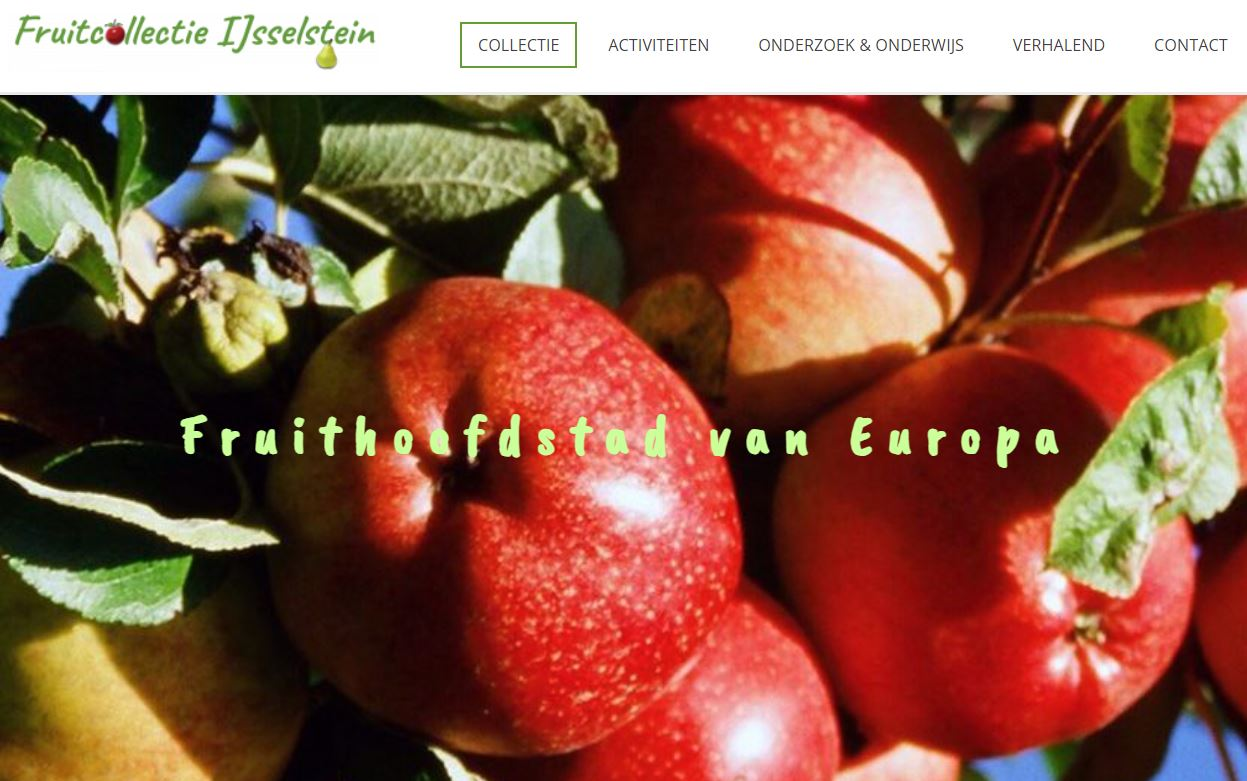 Website Fruitcollectie IJsselstein